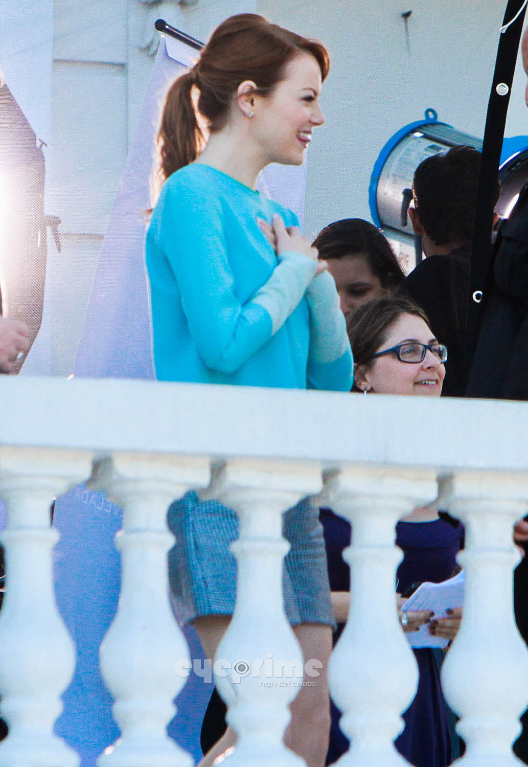 Emma Stone seen during a Photoshoot in Rio, Feb 5