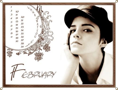 EmmaWatson.Net February Calendar