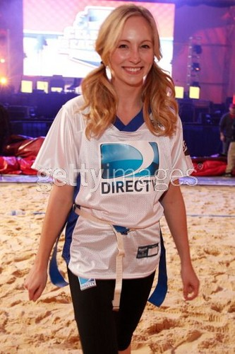 First pic of Candice at DIRECTV's Sixth Annual Celebrity Beach Bowl Game