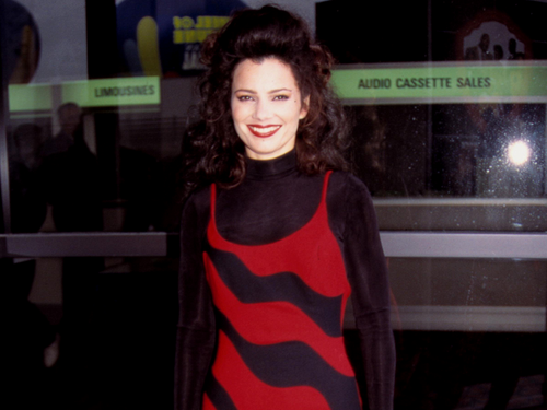 Fran Drescher Hintergrund possibly containing tights and a leotard titled Fran