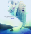 Harry and Dumbledore Kings Cross - albus-dumbledore fan art