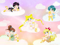 Inner Sailors - sailor-moon wallpaper