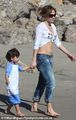 Jennifer, Casper & Twins at the Beach, Santa Monica, CA 05/02/12
