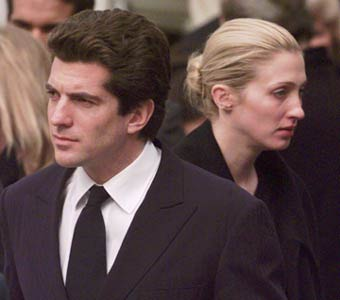 John F. Kennedy Jr. and his wife Carolyn Bessette died in a plane crash