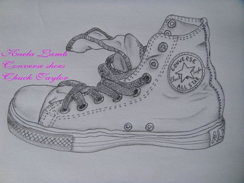Kandy Kaela's drawings of 컨버스 shoes