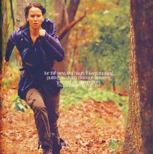 Katniss running