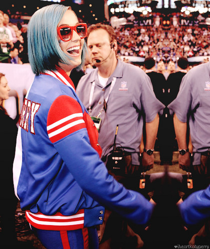 Katy Perry at the 2012 Super Bowl