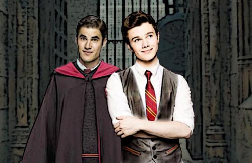 Klaine at Hogwarts