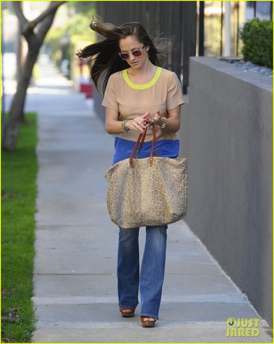 Minka Kelly Visits a Friend