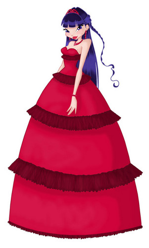 Musa from WINX wallpaper entitled Musa Red Dress