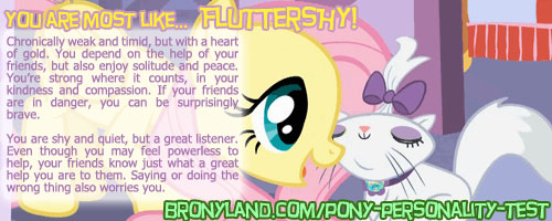 My Pony Personality Quiz Results