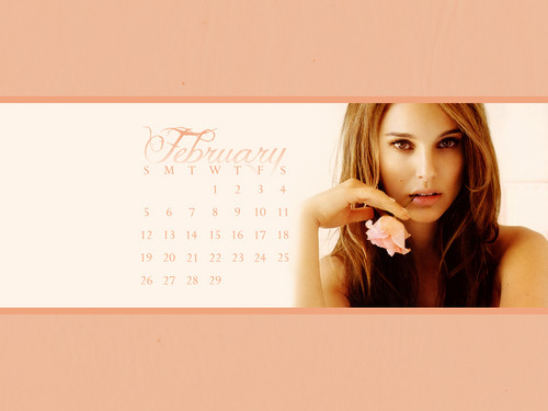 Natalie Portman images NP.COM Calendar - February HD wallpaper and background photos