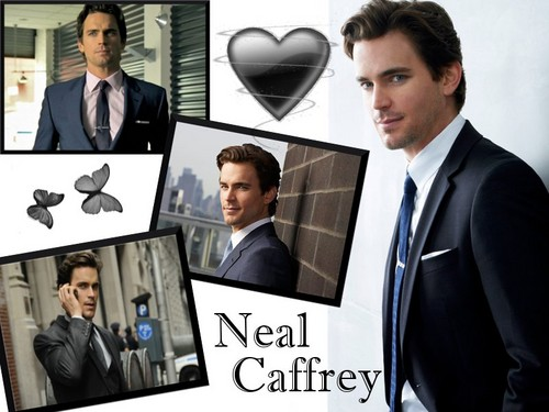 White collier fond d'écran with a business suit, an electric refrigerator, and a refrigerator titled Neal Caffrey