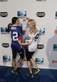 New pic of Candice & Nina at Directv's Celebrity beach, pwani Bowl 2012.