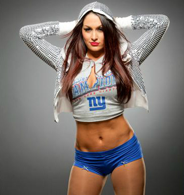 WWE Divas achtergrond probably containing a homp, stoere binken and skin called Nikki Bella