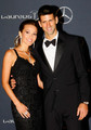 "Novak Djokovic & Jelena Ristic - ""Laureus World Sports Awards"" - (red carpet/06.02.2012)  - novak-djokovic photo"