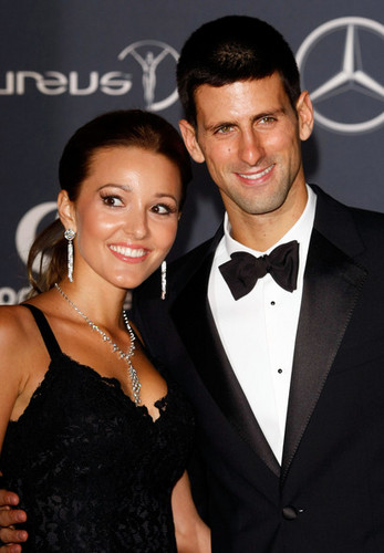 "Novak Djokovic & Jelena Ristic - ""Laureus World Sports Awards"" - (red carpet/06.02.2012)"
