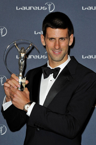 "Novak Djokovic wallpaper containing a business suit titled Novak Djokovic - ""Laureus World Sports Awards"" - (photocall/06.02.2012)"