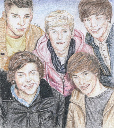 One Direction fond d'écran probably containing animé called One Direction in Sketch