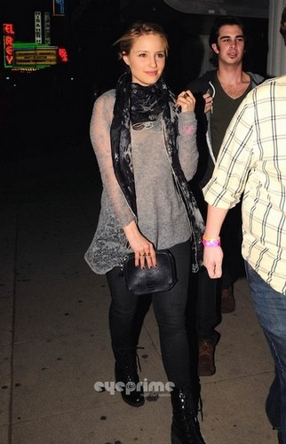 Dianna Agron wallpaper containing a hip boot entitled Out With Darren February 2