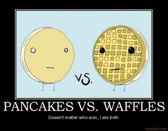 блины vs вафель, вафли