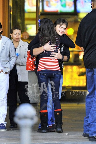 Prince hugging the fan