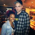 Rob & krestin last night with fan (6 feb) - twilight-series photo