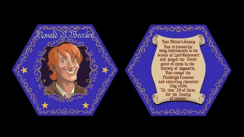Ron's Chocolate Frog Card