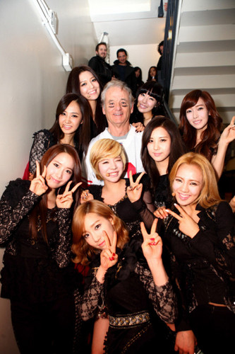 SNSD with Bill Murray