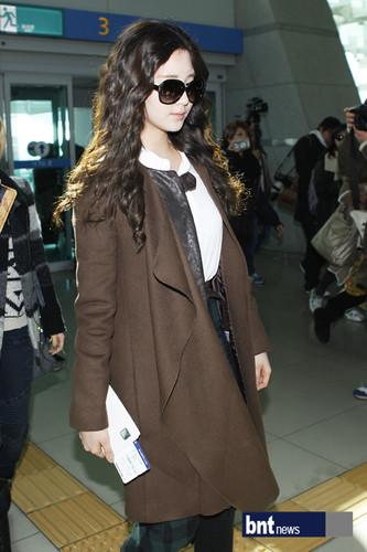 Seohyun airport fashion to musik Bank Paris