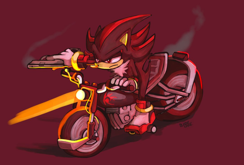 Shadow and his lovely bike