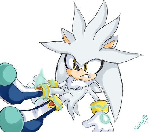 Silver the Hedgehog wallpaper containing anime entitled Silver