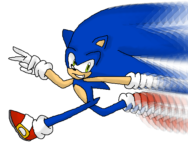 Sonic Running Sonic The Hedgehog Shabiki Art 28888765 Fanpop