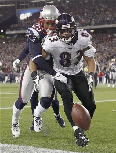 Sterling Moore Strips the Ball in AFC Champ. Game