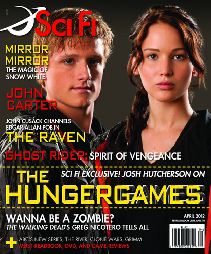 THG on the cover of SciFi Magazine's April Issue