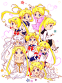The Many Forms of Sailor Moon - kunoichi-island fan art