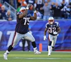 New England Patriots fond d'écran probably with a punter, a right fielder, and a guichet, wicket titled Vince Wilfork!!!