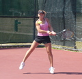 Anastasia Kharchenko Eyes her Balls Intently - wta photo