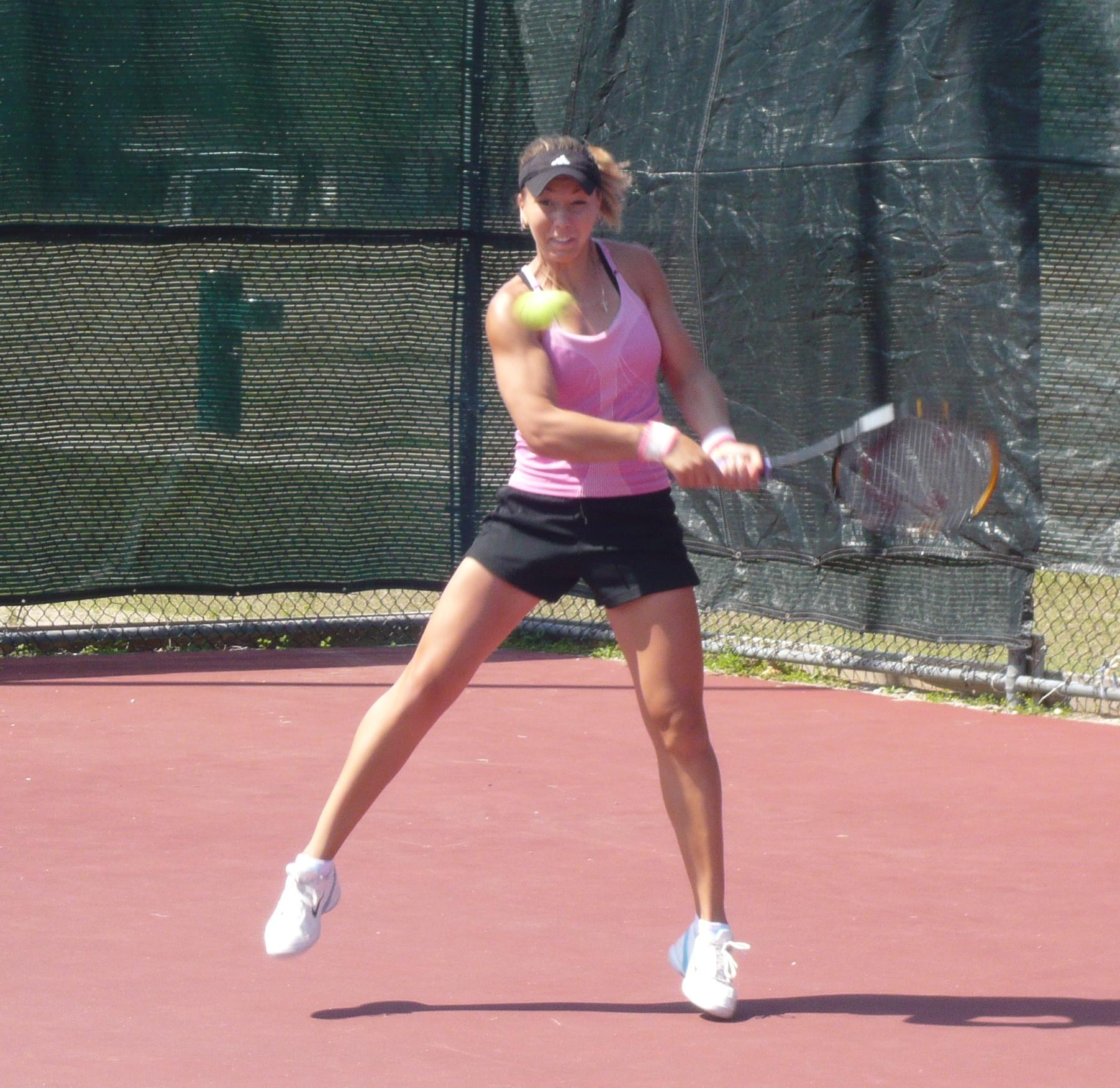 Wta: Anastasia Kharchenko Eyes Her Balls Intently