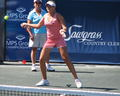 Aleksandra Wozniak Powers her Forehand Return - wta photo