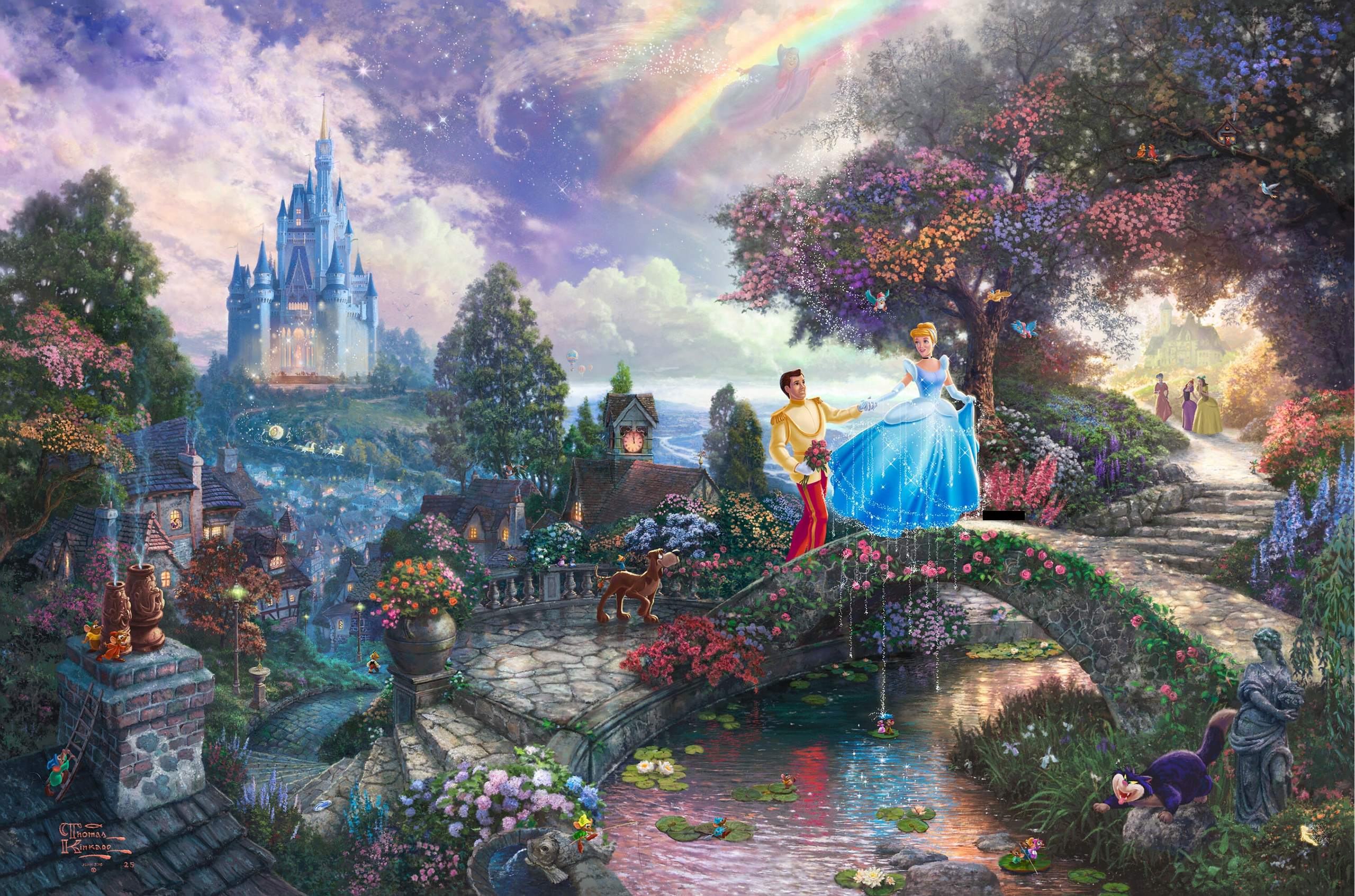 Personagens De Walt Disney Imagens Thomas Kinkade S Disney Paintings