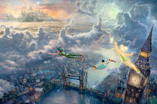 Thomas Kinkade's ডিজনি Paintings - Peter Pan
