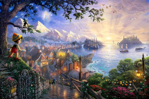 Thomas Kinkade's Disney Paintings - Pinocchio