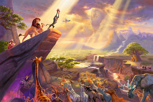 Thomas Kinkade's ディズニー Paintings - The Lion King