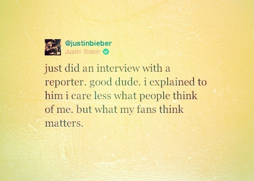What his fans think is all that matters♥ - justin-bieber Photo