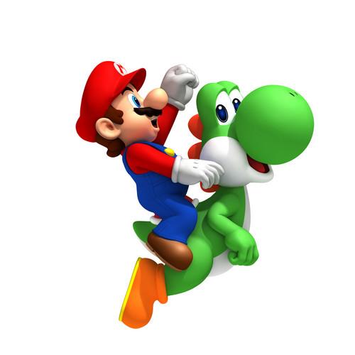 Yoshi wolpeyper titled Yoshi & Mario