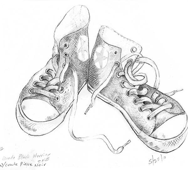 Kandy Kaela's drawings of converse shoes