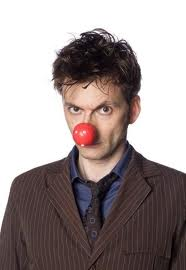 david tennant  with cute red nose