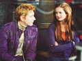 george and Ginny - the-weasley-family photo