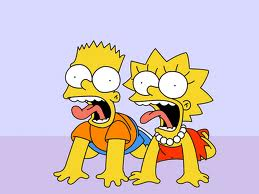 lisa and bart XD!